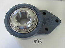 FYH Bearing Unit Flanged 3-bolt 1-3/16IN Bore, Metal Plugged