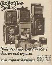 Z9312 Rolleiflex - Rolleicord -  Pubblicità d'epoca - 1936 Old advertising