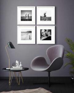 Oxford Black White Oak Grey Square Instagram Photo Picture Frame Wood Effect UK