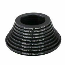Step-down Filter Rings Set 82-37mm as Hood 9pcs 82-77-72-67-62-58-55-52-49-37mm