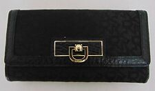 AUTHENTIC NWT DKNY BLACK WOMEN TRIFOLD WALLET              (A7586)