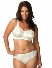 Elomi Caitlyn Collection 40C XL Soft Cup Bra Panty Set Pearl Ivory Wire Free