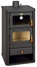 Wood Burning Stove 12 kW with Oven Multifuel Fireplace Woodburning Prity FM New