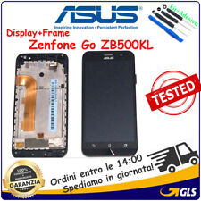 TOUCH SCREEN + Display LCD +FRAME PER ASUS ZENFONE Go ZB500KL x00ad NERO