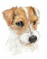 PARSON RUSSELL TERRIER.         3 Blank Dog greeting cards by Christine Groves