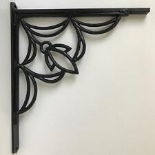 "2 Cast Iron Brackets / Architectural Shelf Brackets, Art Deco, 20 1/2"" x 18"" x 1"