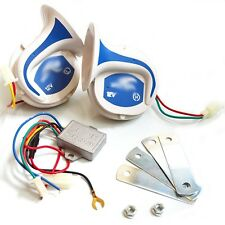 New Car Vehicle 12V Electric Digital 115DB Siren Snail Loud Air Horns 18 Sounds