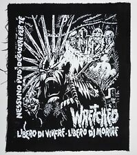 "Wretched - Libero Di Vivere - 1 Col. Back Patch -13 x 14"" (New / Black Fabric)"