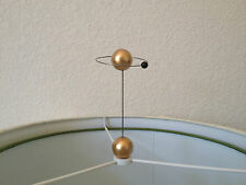 Atomic ORBIT Saturn ATOM Lamp Topper MOLECULE FINIAL Space ART SCULPTURE *Gold*
