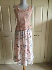 BEAUTIFUL PINK CROCHET TOP. ITALIAN LONG DRESS SIZE 16-18!