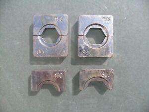 Assorted crimper, crimping dies hydraulic crimp tool. 41mm x 25mm x 11mm thick
