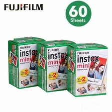 Fujifilm Instax Mini Film White Edge 60 Sheets/Packs Photo Paper for Fuji Camera