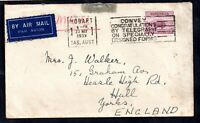 Australia 1939 5d Airmail Slogan cover to England WS14620