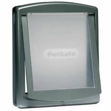 PetSafe 2-Way Manual Pet Dog Door Gate Cat Flap Locking 777 Large Silver 5025