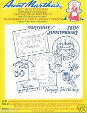 Anniversary Birthday RETIRED Aunt Martha's Transfer