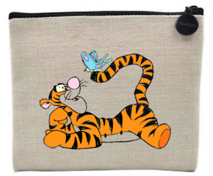 Tigger & Butterfly Style Natural Coin Purse / Accessory Case