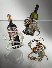 Portabottiglia vino in ferro battuto dipinto a mano coll. BELL PB/130-131-132