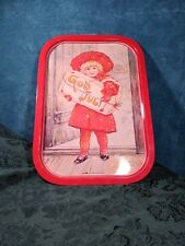 Vintage Rare Serving Tray Jenny nystrom red dress child girl art food paint God