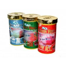 Humpy Head + Ever Red + Starry - 3 cans flowerhorn food * 360 grams * USA SELLER