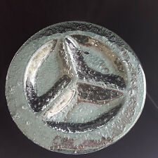 """Clear Textured Glass Large Serving Platter with Three Sections 14 """" Rimmed"""