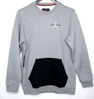 Nike Air Jordan Men's Fleece Crew Top Sweater Grey Men's Size L