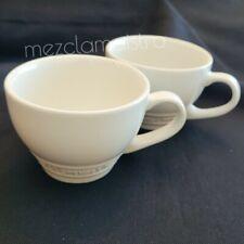 SET New Le Creuset Second Choix Giant Cappuccino bistro Mug Cup 400ml MERINGUE