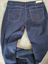 Women's Calvin Klein New Straight Dark Wash Stretch Jeans Size 12 x 30