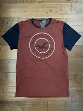New With Tag Hollister Men's Crewneck T-Shirt, Burgundy Red, Size M