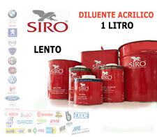 DILUENTE ACRILICO LENTO SLOW VERNICE AUTO - TRASPARENTE 2K SIRO 1 LT