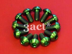 12 pcs Green M5 x 10mm Titanium/Ti Bolt - Hayes, Avid, Shimano Disc Brake Rotor