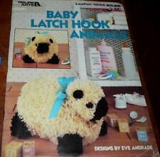 BABY LATCH HOOK ANIMALS Leisure Arts 1044 Instruction Leaflet Book
