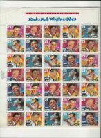 USPS 1992  ROCK& ROLL/RHYTHM & BLUES 35 Stamps Full  Sheet  of 29c Stamps