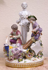 Meissen Painted Porcelain Children Group 'Swing Upon City Ruins' Circa 1870s