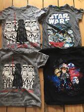 Bundle Star Wars tshirts age 4 Stormtrooper Darth Vader Next Disney grey black
