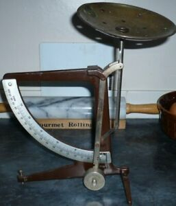 Vintage Post Office ?  Scales with dial and brass plate.