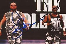 WWE WRESTLING: THE DUDLEY BOYZ SIGNED 6x4 ACTION PHOTO+COA **PROOF**
