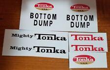 MIGHTY TONKA BOTTOM DUMP USA DECAL SET