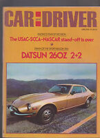 Car & Driver Magazine April 1974 Datsun 260Z Mexican Road Race