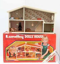 Lundby Dolls' House 2-storey 'The Town House' plugin with working lights and box