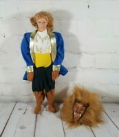1992 Vintage Disney The Beauty & The Beast  Blonde Hair Doll With Beast Outfit