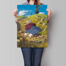 Howl's Moving Castle Poster Studio Ghibli Anime Movie 16.6 x 23.4 in (A2)