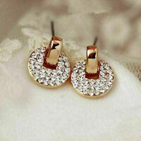 1 Paar Mode Damen Lady Elegant Kristall Rhinestone Ohrringe mode Stud Ear E4A9