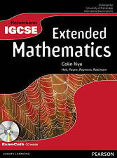 Heinemann IGCSE Maths Extended Student Book, Good Condition Book, Nye, Colin, IS