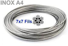 Cable Diamètre de Ø 8mm inox 7x7 inox 316 - A4 Couronne de 10 mètres