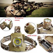 8000LM Camouflage CREE XML XM-L T6 LED 18650 Headlamp Headlight Flashlight Lamp