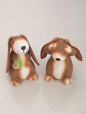 2er Set Dekohasen aus Keramik * Osterhasen * Hasen * 5,5 cm * Geschenkverpackung