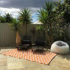 180x270cm SPARTA ORANGE/WHITE Outdoor/Indoor Plastic Rug/Mat  Waterproof Modern
