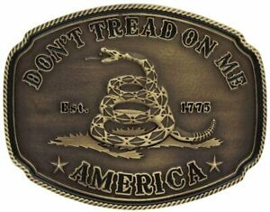 Montana Silversmiths Men's American Gadsden Don't Tread On Me Heritage Gold