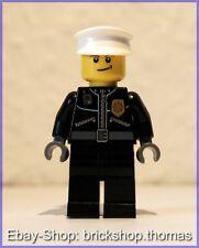 Lego City Figur (cty256) Polizist mit weißer kappe