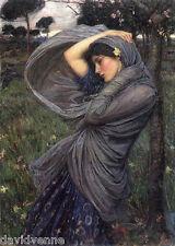 Needlepoint Canvas Print - John William Waterhouse: Boreas 1903